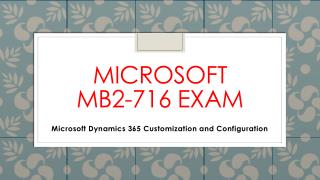 MB2-716 Braindumps