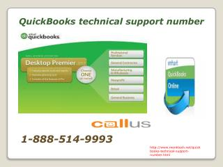 What does QuickBooks technical support number? @ 1-888-514-9993