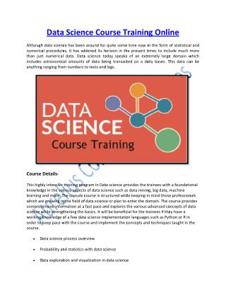 Be a Data Scientist with Our Certified Experts