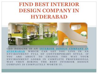 Find Best Interior Design Company in Hyderabad