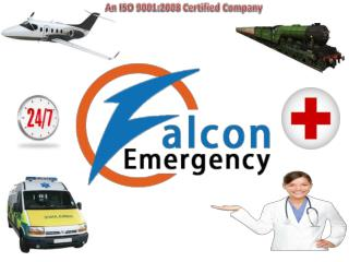 ICU Facilities Air Ambulance Services in Guwahati to Delhi  by Falcon Emergency