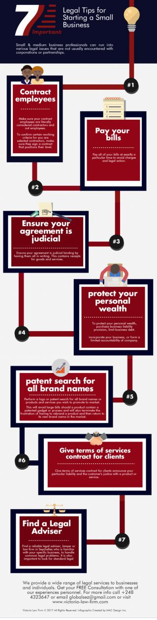 Infographic: 7 Legal Tips for Starting a Small Business