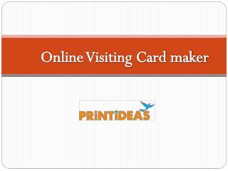 Online Visiting Card Design -Printideas
