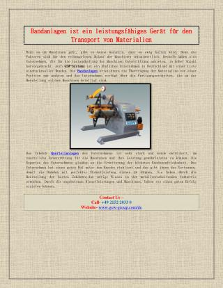 Bandanlagen ist ein starkes Gerät für den Transport von Materialien