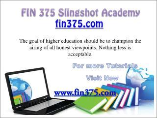 FIN 375 Slingshot Academy/ fin375.com