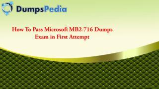 MB2-716 Dumps