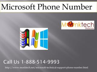 Why to make a call at Microsoft Phone number 1-888-514-9993?