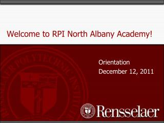 Welcome to RPI North Albany Academy