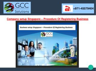Company Setup Singapore – Procedure Of Registering Business