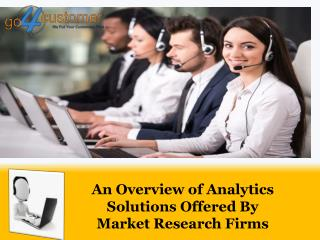 An Overview of Analytics Solutions Offered By Market Research Firms