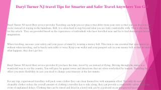 Daryl Turner NJ travel Is Traveling a Part of Your Life? Try These Ideas!