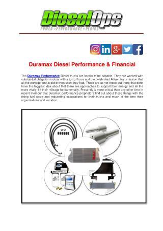 Duramax Diesel Performance & Financial
