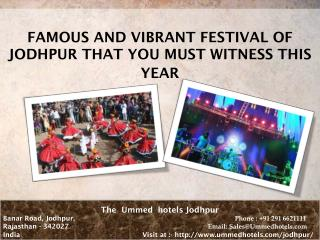 Famous And Vibrant Festival of Jodhpur That You Must Witness This Year