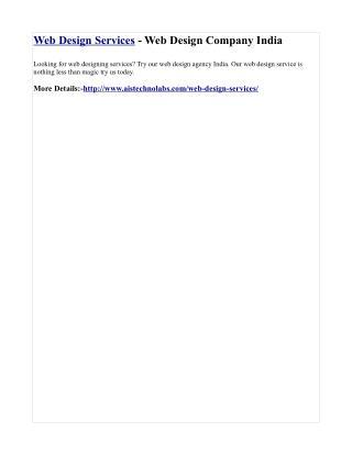 Web Design Services - Web Design Company India