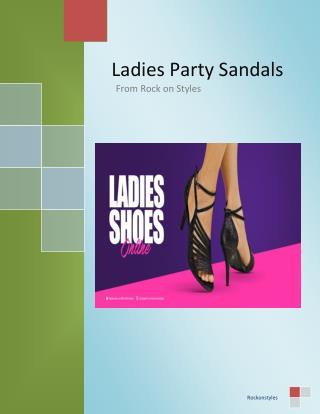Ladies Party Sandals