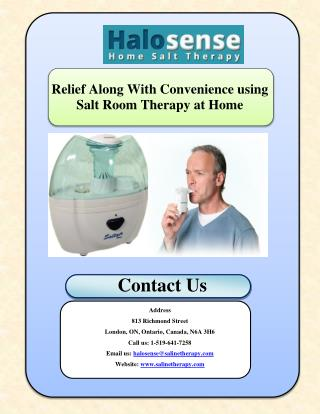 Relief Along With Convenience using Salt Room Therapy at Home