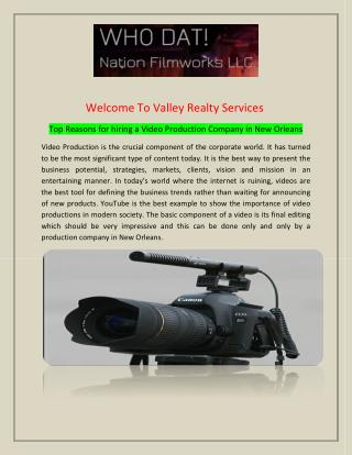 Video Production Company in New Orleans