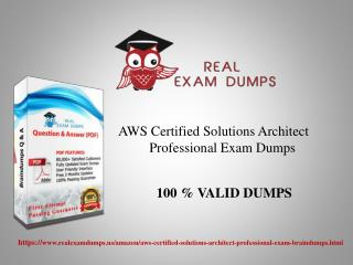 Buy AWS Certified Solutions Architect Professional Exam Dumps With 100% Passing Guarantee