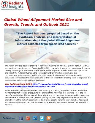 Global Wheel Alignment Market Overview and Outlook 2021