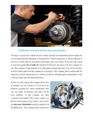 Auto parts Mitsubishi
