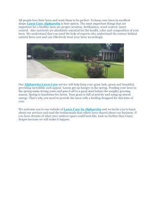 Lawn Care Alpharetta
