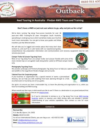 4wd Touring in Australia - Pindan 4WD Tours and Training