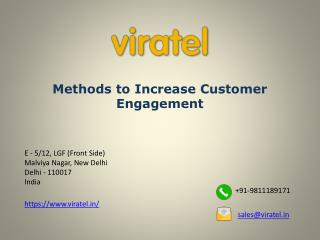 Methods to Increase Customer Engagement
