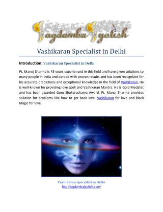 Vashikaran Specialist in Delhi-Jagdamba jyotish