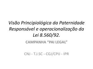 Vis o Principiol gica da Paternidade Respons vel e operacionaliza  o da Lei 8.560