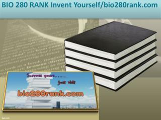BIO 280 RANK Invent Yourself/bio280rank.com