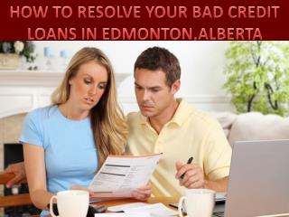 Resolve your bad credit car loans in edmonton|Alberta