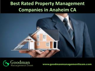Best Rated Property Management Companies in Anaheim CA