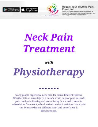 Neck Pain Treatment with Physiotherapy
