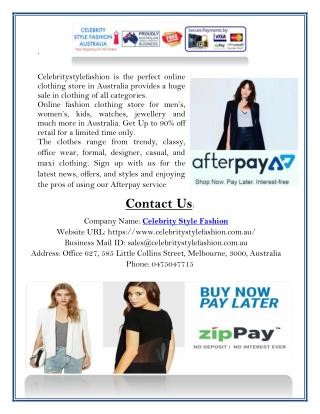 Find Affordable Women's Clothing Store in Australia