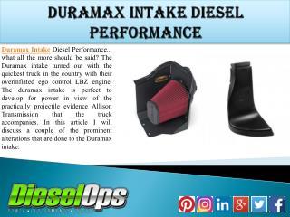 Duramax Intake Diesel Performance