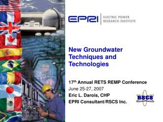 New Groundwater Techniques and Technologies