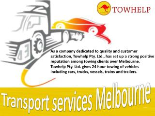 Transport services Melbourne