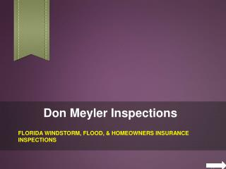 Windstorm Insurance Inspections