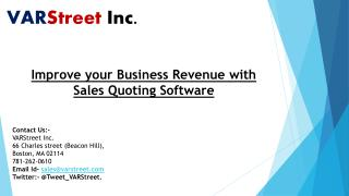 Improve your Business Revenue with Sales Quoting Software
