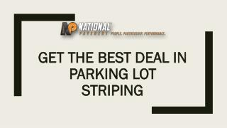 Get the Best Deal in Parking Lot Striping