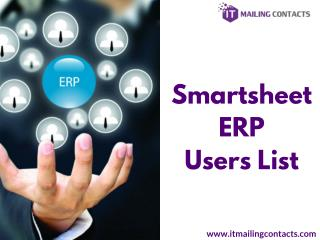 Smartsheet ERP Users List