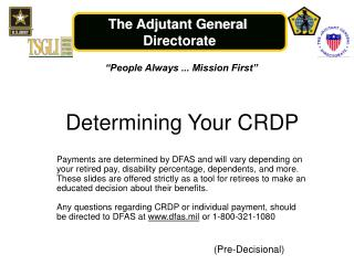 Determining Your CRDP