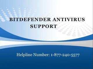 Resolved Technical Issues forbitdefender antivirus support 1-877-240-5577
