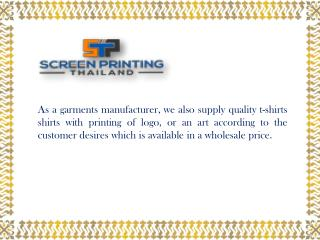 Thai T-shirt Printing Factory in Thailand, Bangkok