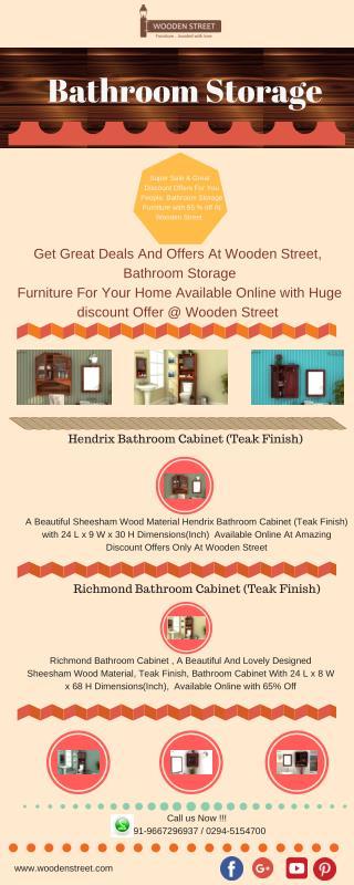 Bathroom Storage : Buy Bathroom Storage @ Wooden Street