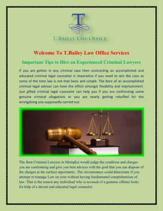 Memphis Criminal Attorneys