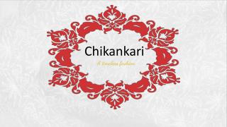 Chikankari - ''The traditional embroidery style from Lucknow, India''.