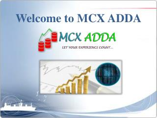 Importance of live mcx international rate in stock market