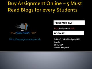Buy Assignment Online - 5 Must Read Blogs for Students