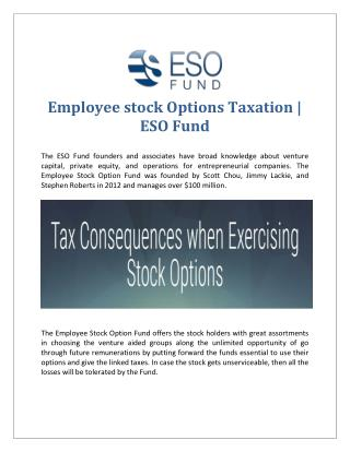 Employee stock Options Taxation | ESO Fund